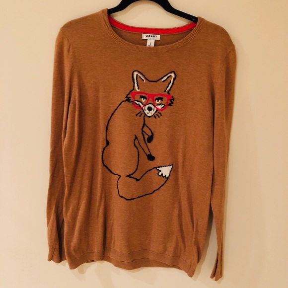 Old Navy Sweaters - Fox sweater! 🦊